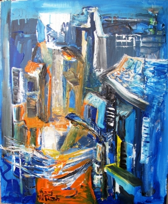 Alley under Blue Moon
