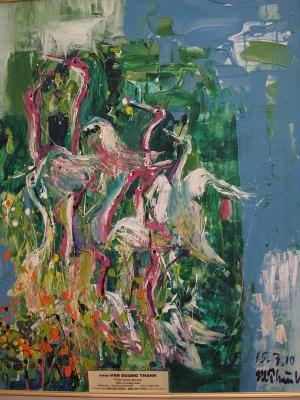 White Storks Dancing
