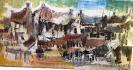 Những ngôi nhà phố cổ (màu nâu)